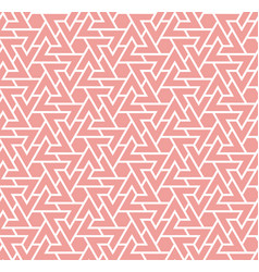 living coral color seamless geometric pattern vector image