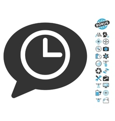 Message Time Icon With Air Drone Tools Bonus vector