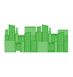 monochrome background with city buildings vector image