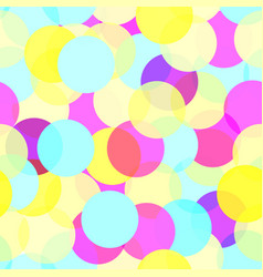 multicolor seamless circle pattern vector image vector image