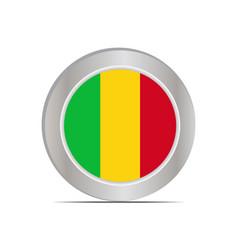 National flag republic mali vector