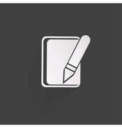 Notepad web iconflat design vector image