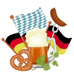 oktoberfest beer festival or poster vector image