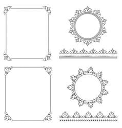 pattern brushes set 1 vector image