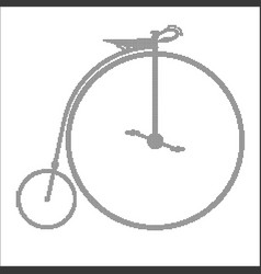 Penny farthing halftone vector