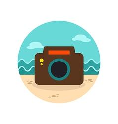 Photo Camera icon Summer Vacation vector