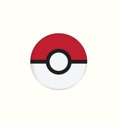 Pokemon icon logo template vector
