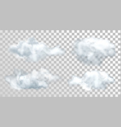 realistic or 3d fluffy clouds isolated sky vector image