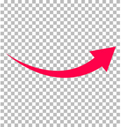 red arrow icon on transparent background flat vector image