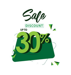 sale discount up to 30 template design vector image