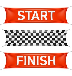 Starting and finishing lines banners vector