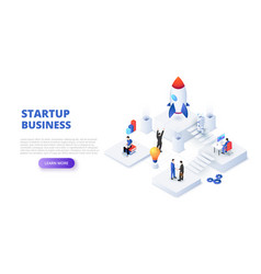 startup business design concept with people vector image