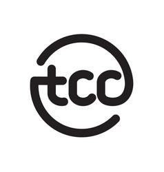 tcc initial geometric logo vector image