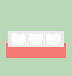 Teeth whitening strip vector
