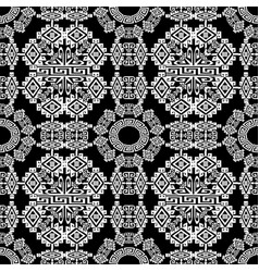 tribal ethnic style geometric greek seamless vector image