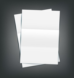 Two Empty Paper Sheet vector image