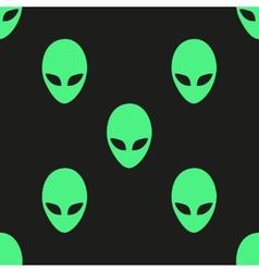 Universal alien heads seamless patterns vector image