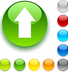 Upload button vector image