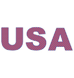 usa polka dots vector image
