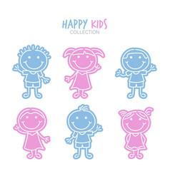 variety kids cartoons set vector image