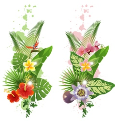vertical tropical banners vector image vector image