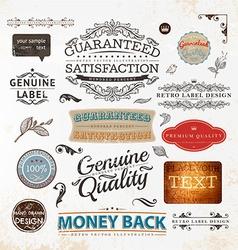 Vintage label set vector
