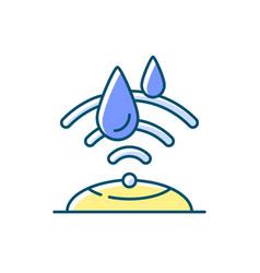 Water sensor rgb color icon vector