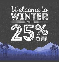 winter sale words on the beautiful chrismas flat vector image