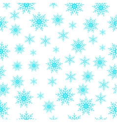 winter snowflakes seamless background vector image