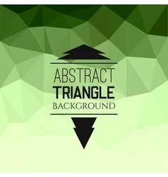 Abstract green triangle pattern vector image vector image