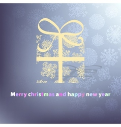 Christmas card with a surprise EPS8 vector image vector image