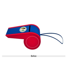 Red and Blue Stripe on Belize Whistle vector image vector image
