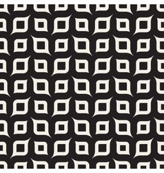 Seamless Black And White Rounded Shapes vector image