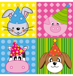 animals card vector image