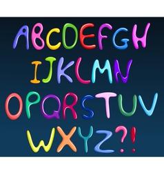 colorful spaghetti alphabet vector image vector image