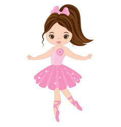 cute little ballerina dancing vector image