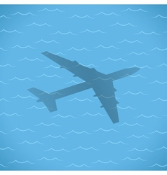 flight over sea vector image vector image