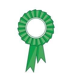 Green award ribbon vector image