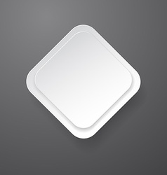 Paper white rectangular note on grey vector image