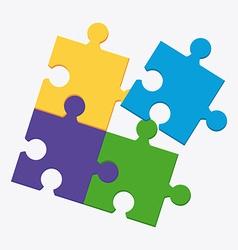 puzle design vector image
