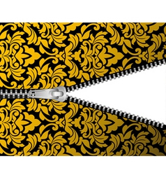 seamless damask background with zipper for design vector image