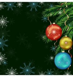 Background for New Year and Christmas vector image