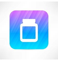 Medicine jar with pills vector
