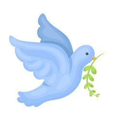pigeon of the world with a twig in its beakhippy vector image
