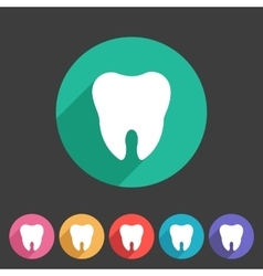 Tooth icon flat web sign symbol logo label vector image vector image