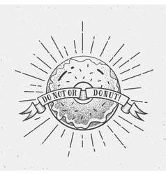 Abstract Vintage Donut or Logo vector image