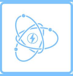 atom energy icon vector image