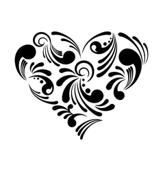 beautiful abstract heart vector image