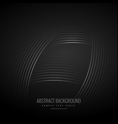 black background with curve lines vector image vector image