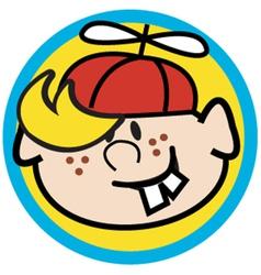 Cartoon boy face vector image